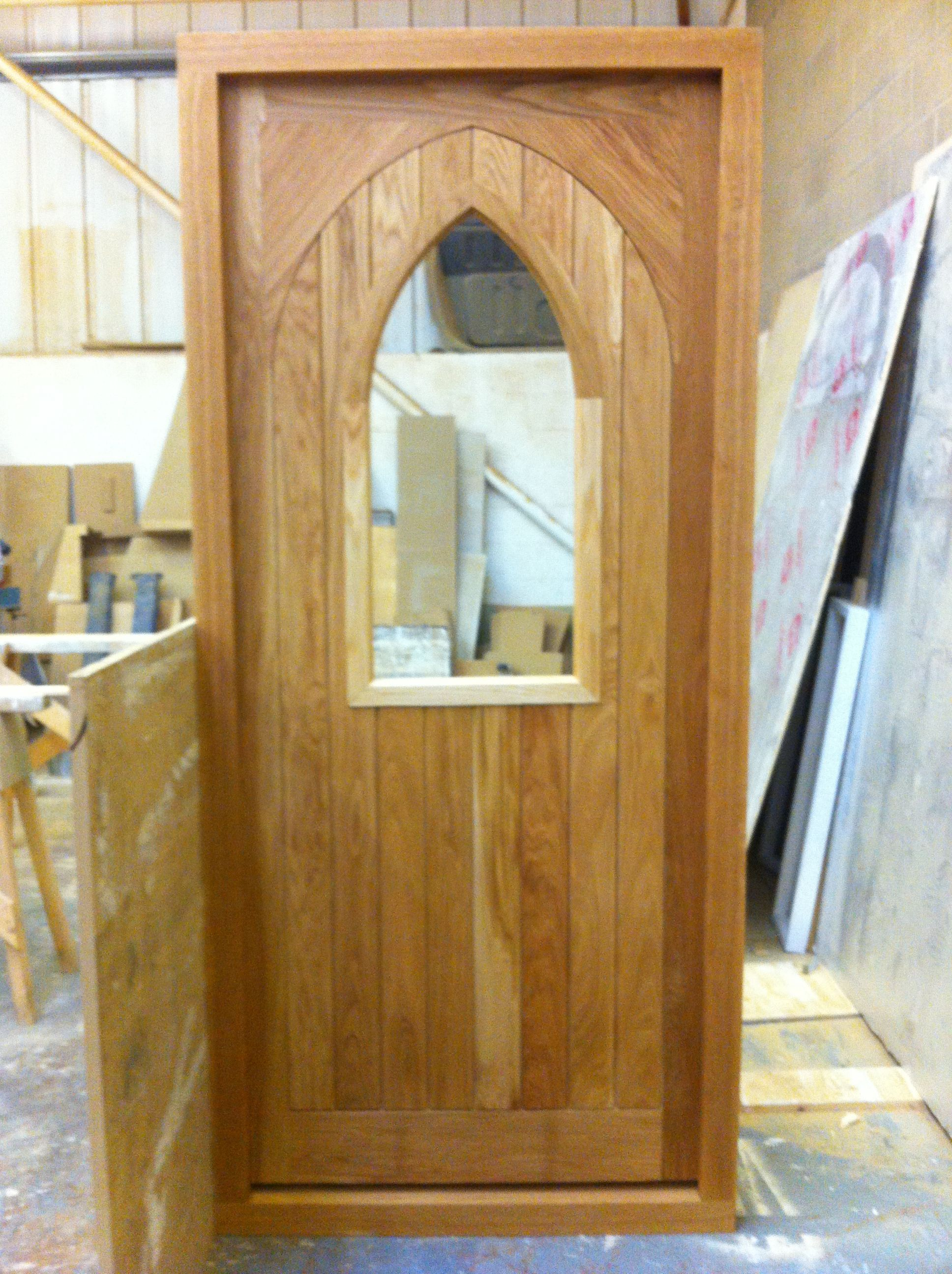 Beautiful oak door with \