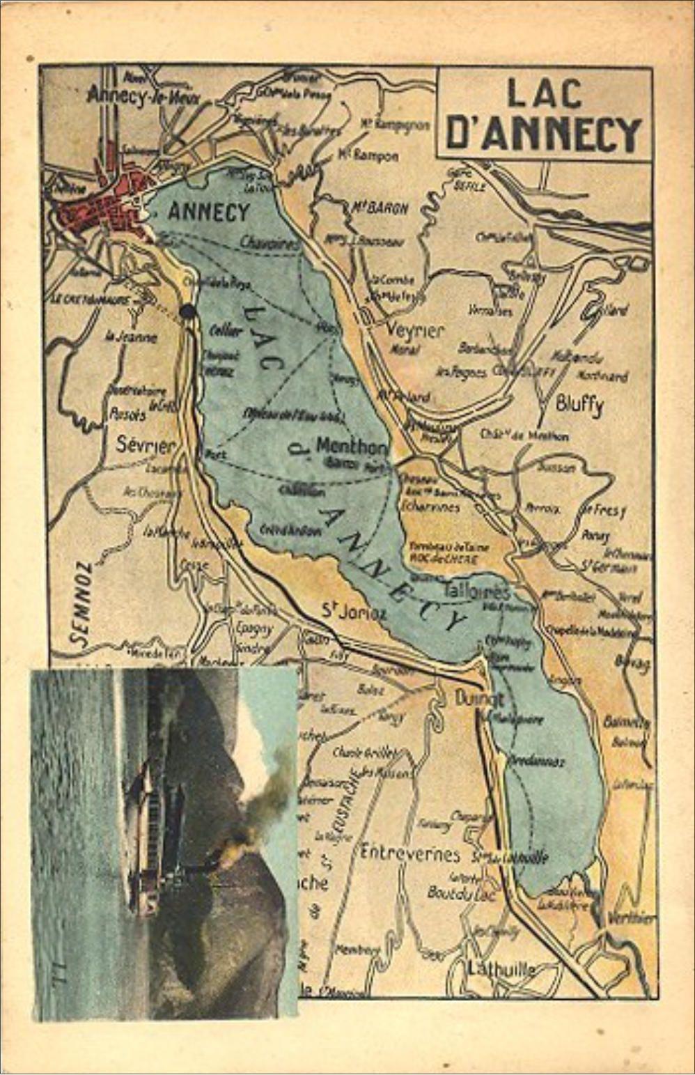 Haute-Savoie - Lac d'Annecy. CPA 73 - Carte postale ancienne de Savoie - carte de la Savoie ...