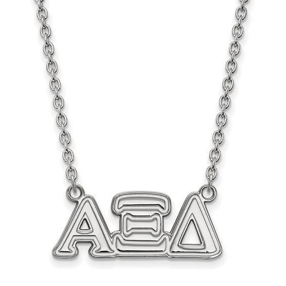 Zales Delta Zeta Medium Sorority Necklace in Sterling Silver wBPjnV