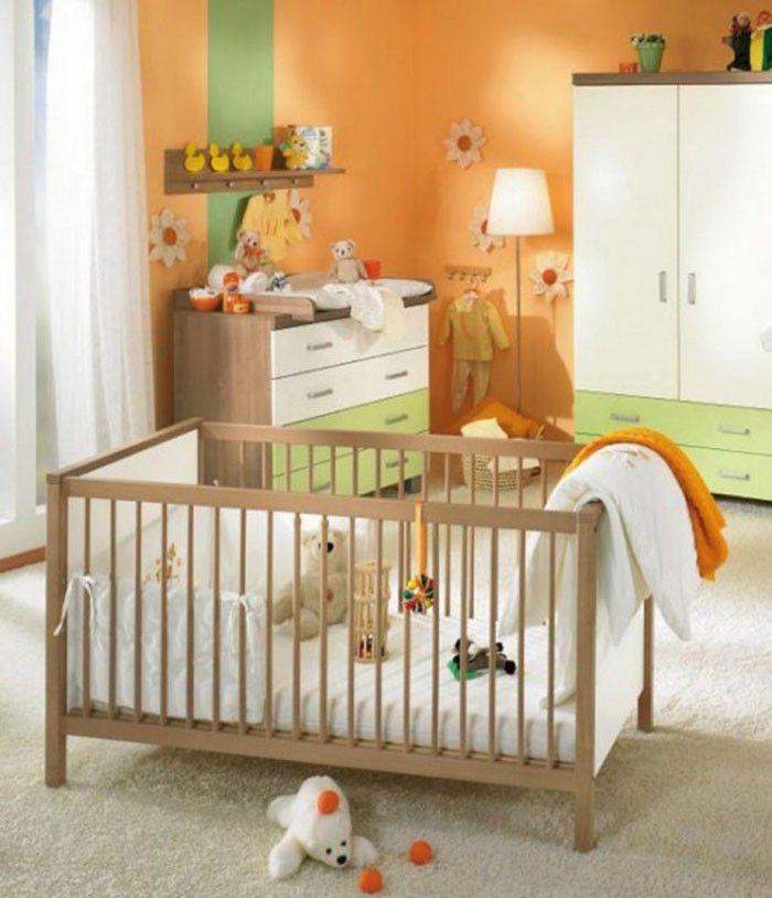 babyzimmer gestalten babyzimmer set einfach Babyzimmer - babyzimmer orange grn