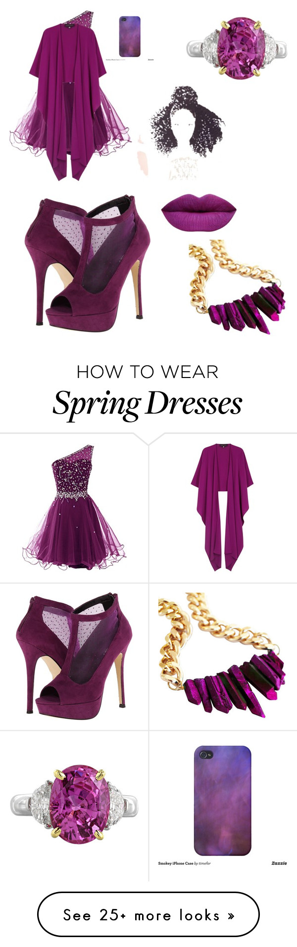 """Pretty purple"" by siscotash on Polyvore featuring Call it SPRING and Talbot Runhof"