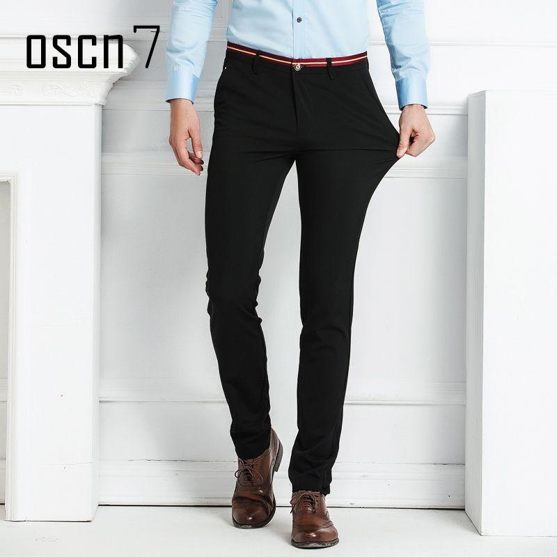 Click To Oscn7 Black Office Pants Men Formal Business Mens Dress