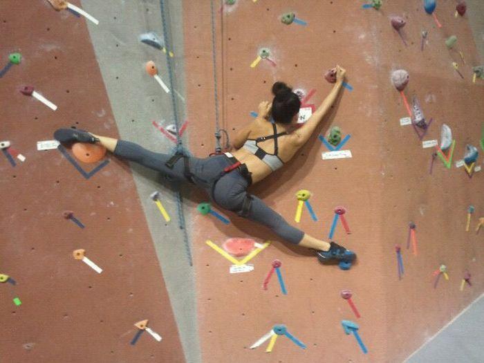 Russian Connected Rock Climbing Climbing Girl Climbing