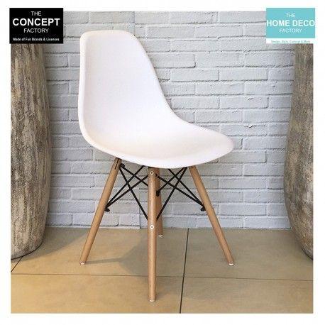 chaise cosy pieds en bois blanche lot de 4 chaise coque pieds bois pinterest bois. Black Bedroom Furniture Sets. Home Design Ideas