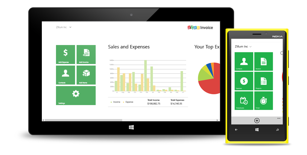 Zoho Invoice App Is Now Available For Windows Phone And Windows - Invoice software for windows