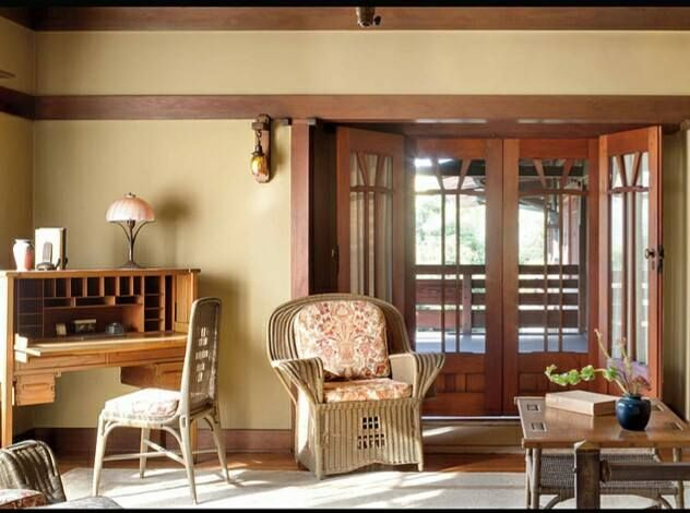Gamble House Revives Upstairs Downstairs Tour For Summer Bungalow Interiors Gamble House Craftsman Interiors