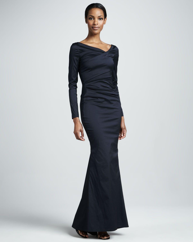 Talbots dresses for weddings  docchirotalbotrunhoflongsleeveruchedmermaidgownp