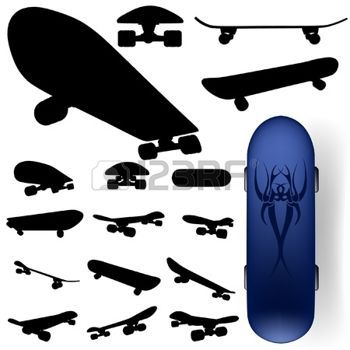 c0a12ba5 skateboard: vector skateboard silhouette set Illustration. 15,037 Skateboard  Stock Illustrations, Cliparts And Royalty Free ...