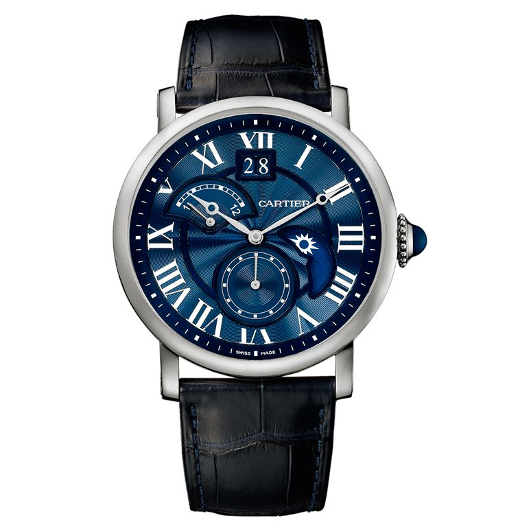 Cartier Rotonde Second Time Zone Day/Night White Gold (W1556241)