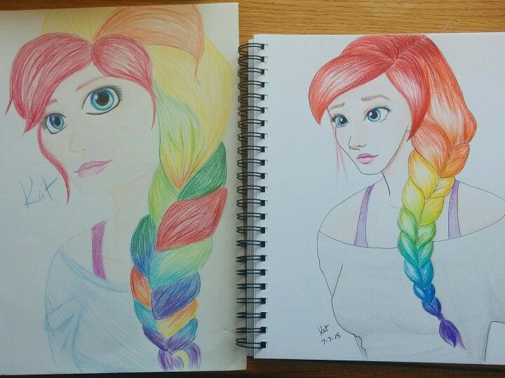 {By: Kat Cotta} I redrew one of my older drawings. The one on the left was drawn about nine months ago and I just finished the other one ^-^