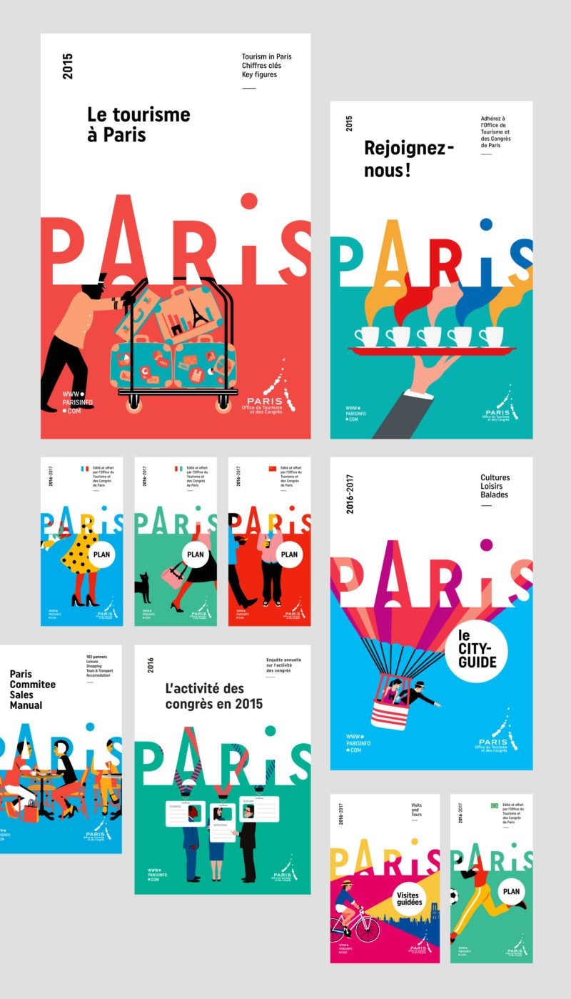 Paris Convention and Visitors Bureau rebranding - Graphéine