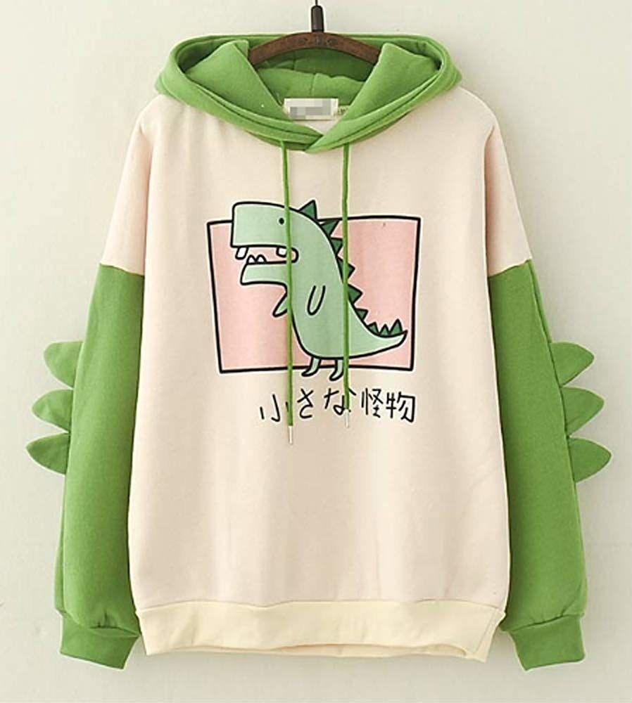 Women Sweatshirts Cute Pastel Printed Loose Comfortable Hoodies For Teen Girls