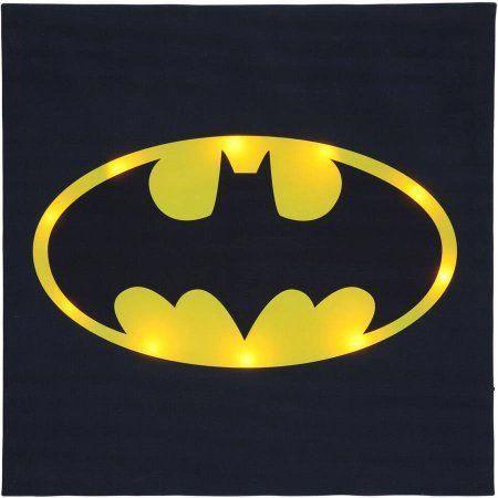 Batman Logo Light Up Wall Art 16 Inch X 16 Inch Black