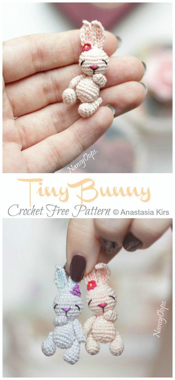 Amigurumi Tiny Bunny Crochet Free Pattern #amigurumi #crochet #knitting #amigur …   – Gelinlik