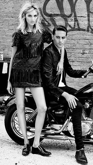 Anja Rubik with G-Eazy by Paola Kudacki for William Rast SS 2015 campaign