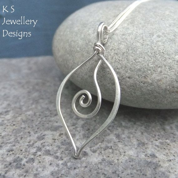 Photo of Wire Jewelry Tutorial – SWIRL LEAVES (Pendant & Earrings) – Step by Step Wire Wrapping Wirework Instructions – Instant Download