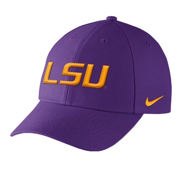 20278aa0a81 Louisiana State LSU Tigers Nike Dri-Fit Wool Classic Adjustable Hat ...
