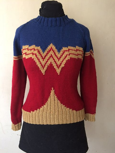 You Can Knit the Greatest Wonder Woman Sweater in the World Thanks ...