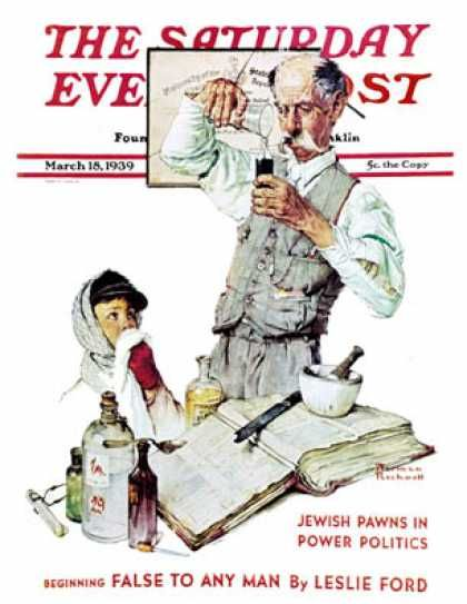 Saay Evening Post 1939 03 18 Pharmacist Norman Rockwell