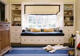 Resultado de imagen para window seat with bookshelves