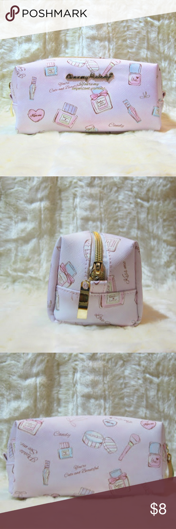Charmy Melody Makeup Pouch Makeup pouch, faux leather