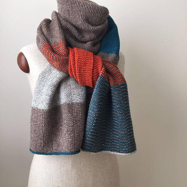 Warming Stripes pattern by Claudia Eisenkolb | Chal, Tejido y ...
