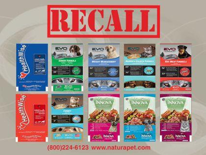 Recall Natura Pet Food Treats Dog Food Recall Food Animals