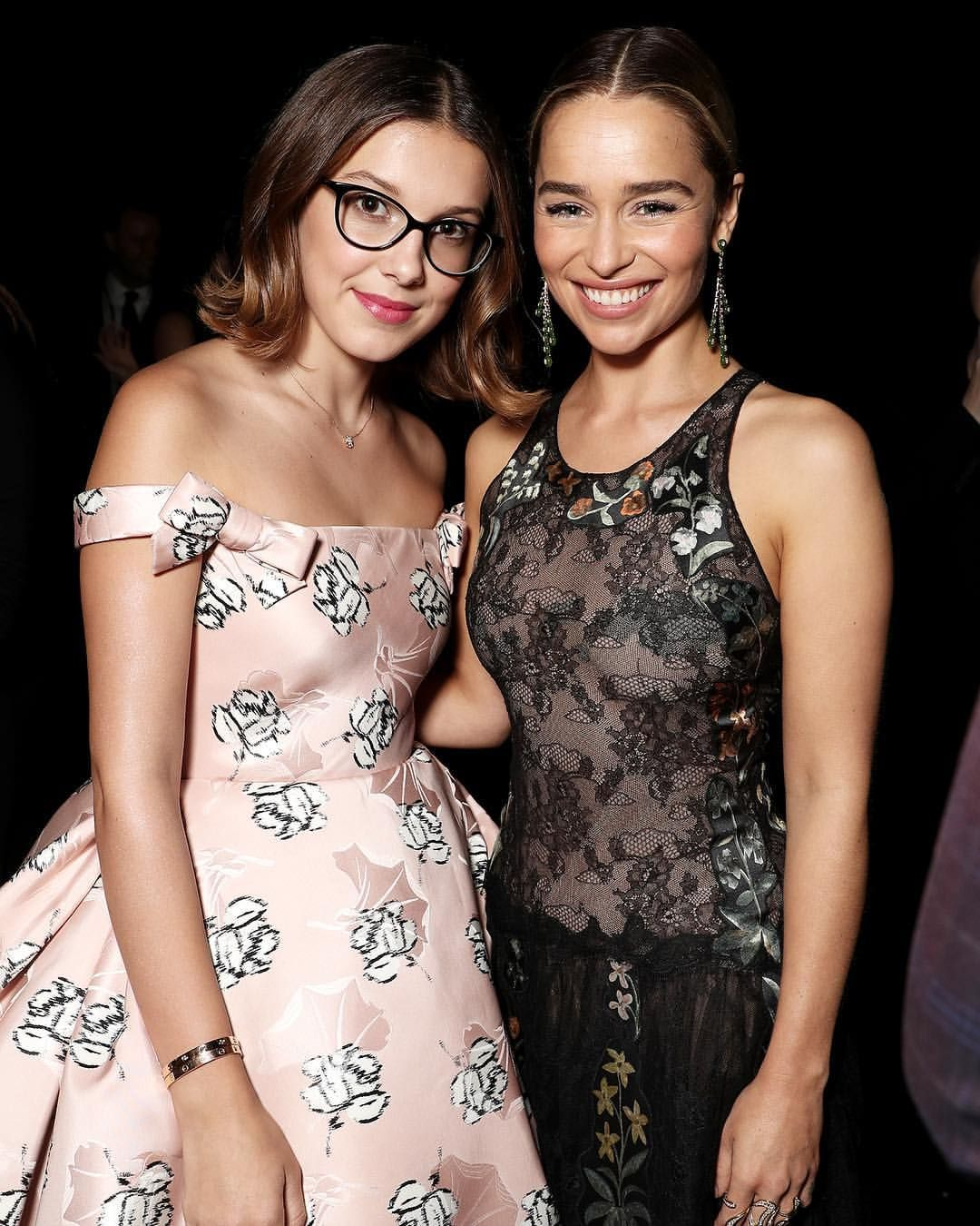 Millie Bobby Brown And Emilia Clarke Emmys With Images Millie Bobby Brown Bobby Brown Stranger Things Bobby Brown