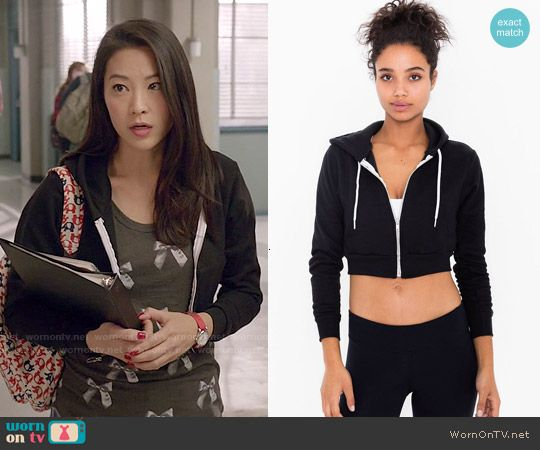 Kira's black cropped hoodie on Teen Wolf. Outfit Details: http://wornontv.net/50290/ #TeenWolf