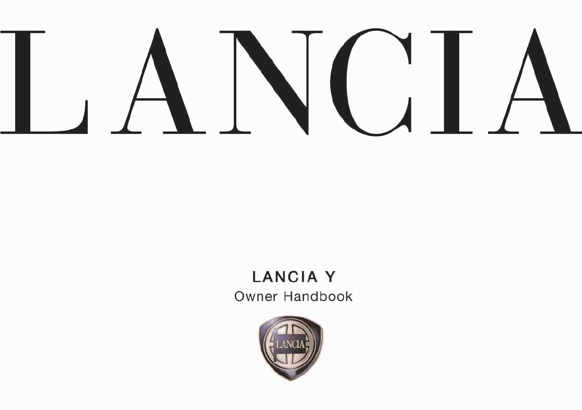 Lancia Ypsilon 2001 Owners Manual PDF