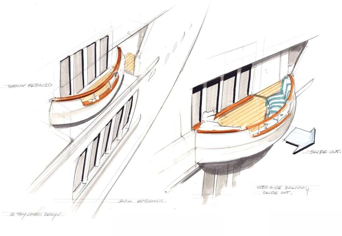superyacht sketches tony castro yacht design yacht design boat design boat sketch  [ 1200 x 828 Pixel ]