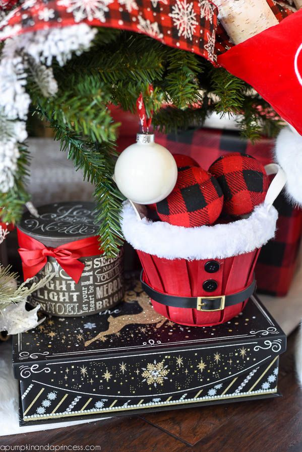 Buffalo Check Christmas Tree - A Pumpkin And A Princess