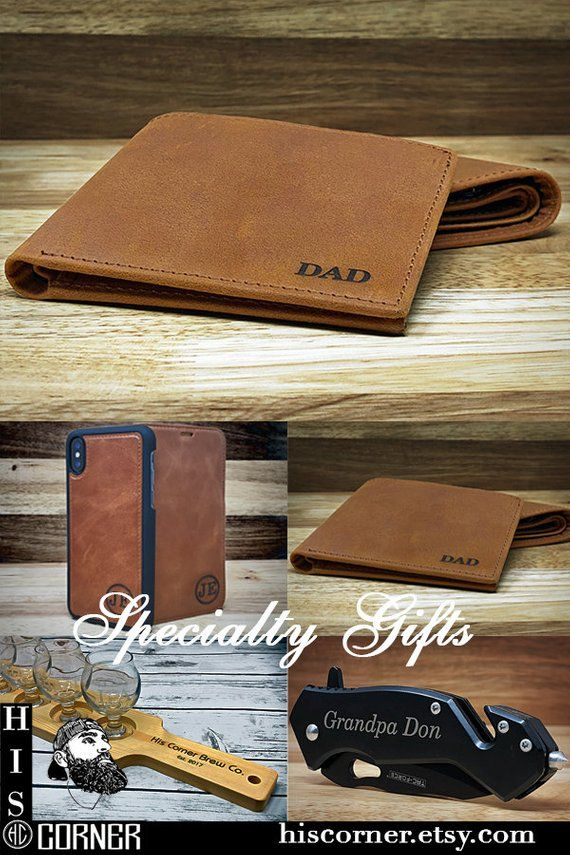 bfc7070fc7b5 Fathers Day Gift - Personalized Men s Leather Wallet - The Perfect Gift for  Dad