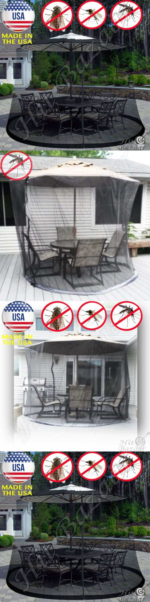 Privacy Screens Windscreens 180991: Mosquito Net Patio Umbrella Screen  Cover Outdoor 9 Ft Insect Control