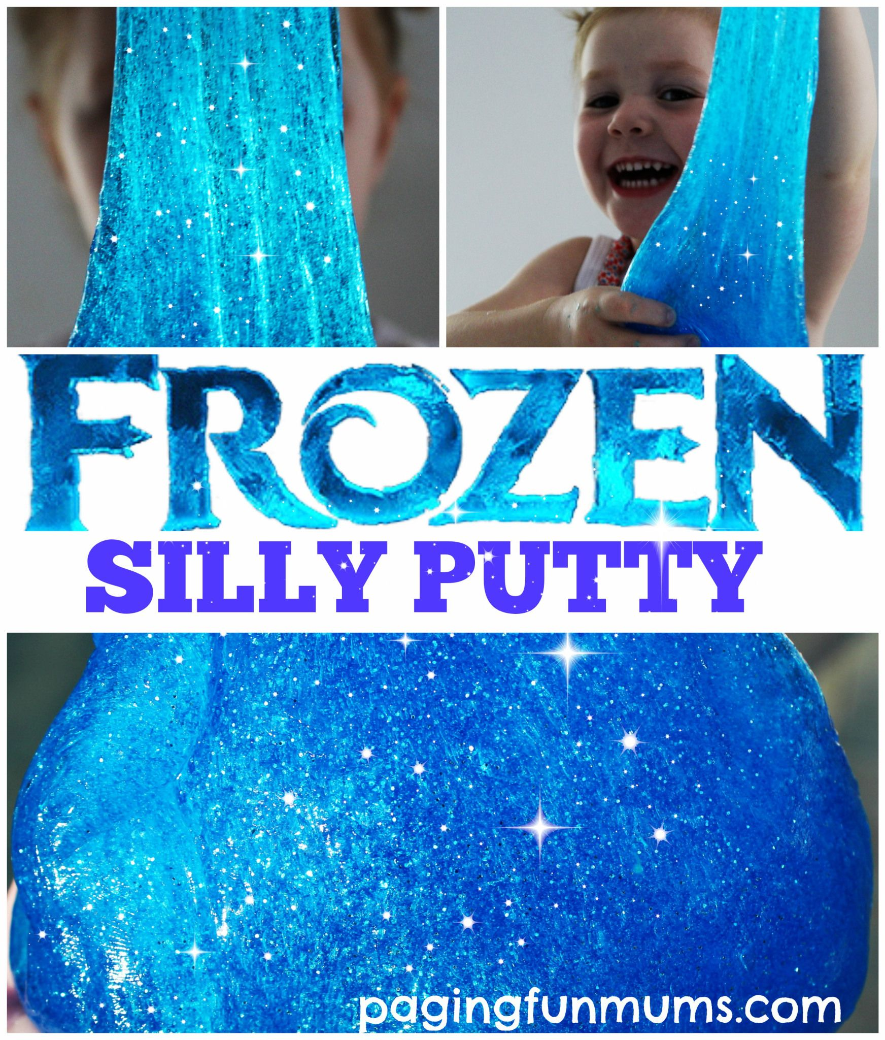 Frozen Silly Putty Top Shot- keep mixing with hands when it doesn't seem to mix properly. It will come together.