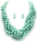 Chunky Lucite Bead Necklace Set  $25