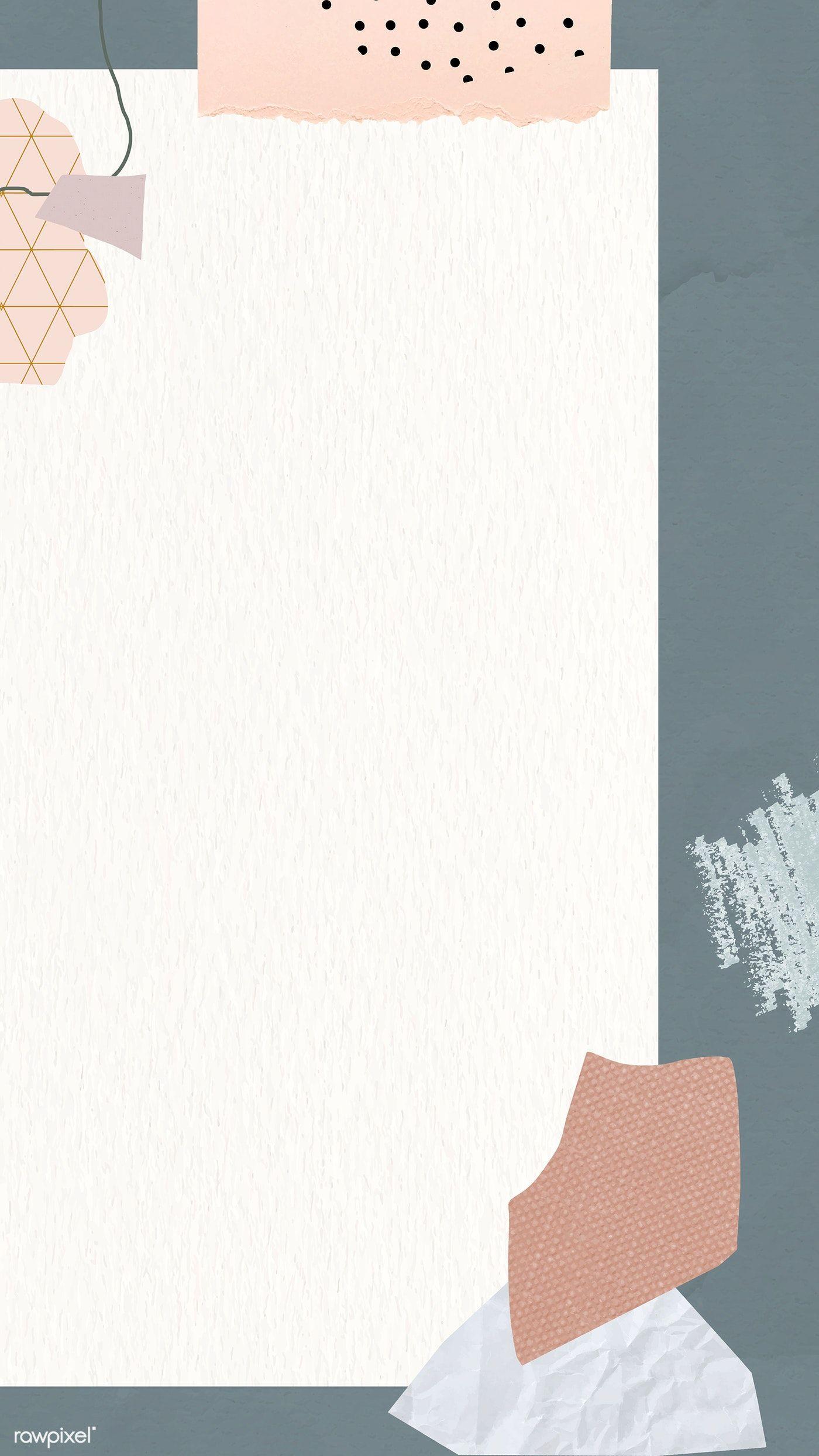 Download Premium Vector Of Gray Frame Mobile Phone Wallpaper Vector 1214269 Instagram Wallpaper Photo Collage Template Aesthetic Iphone Wallpaper