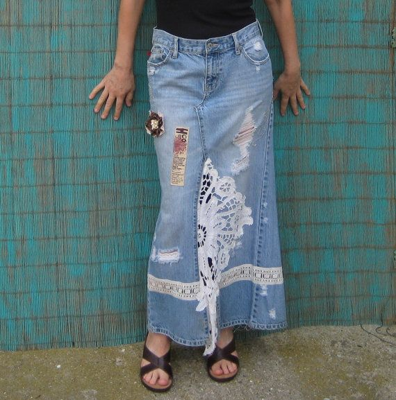 how to turn a maxi skirt into pants