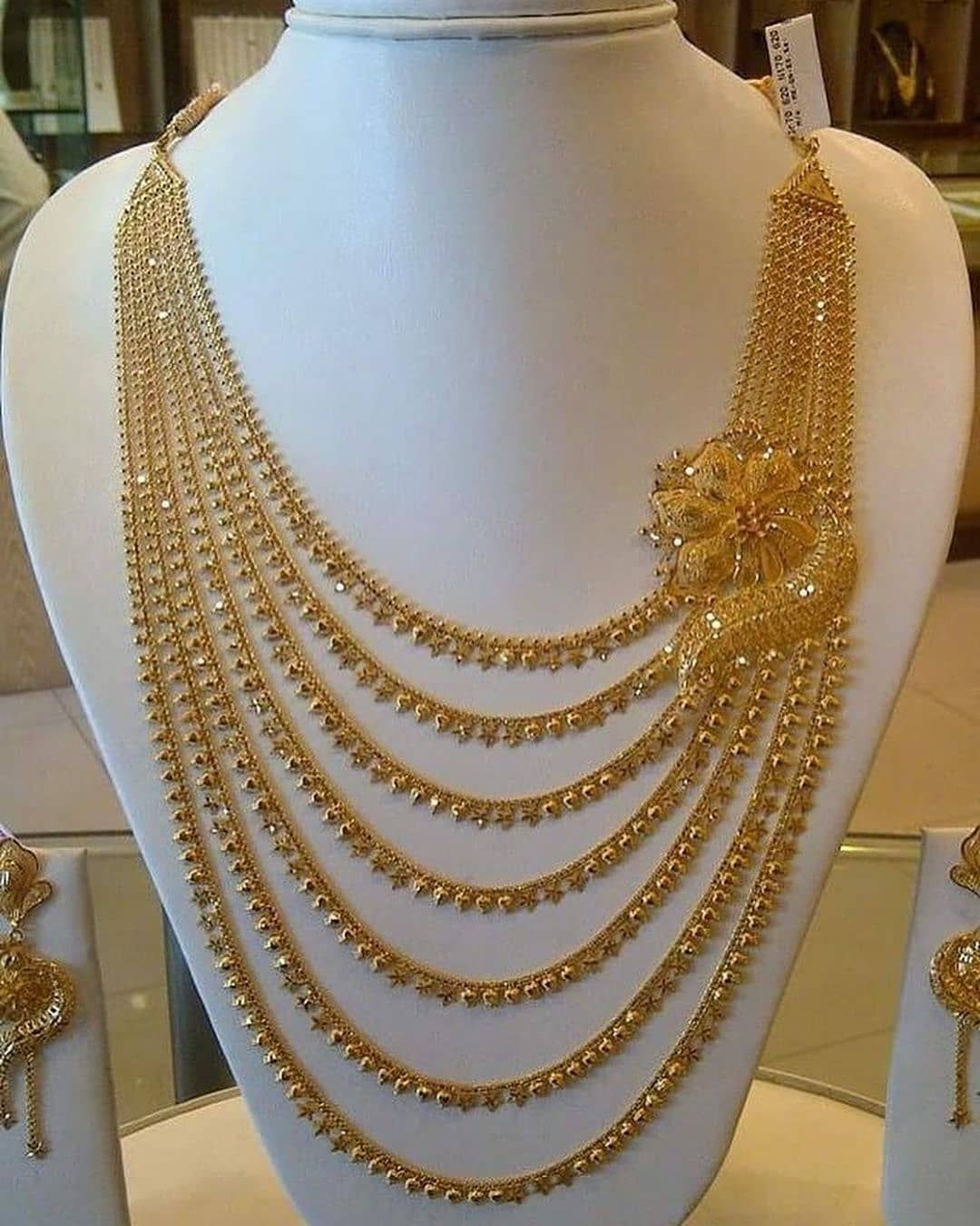 Indian Pakistani Traditional Grand Bridal Designer Jewellery Long Pearl Necklace Set for Women and Girls
