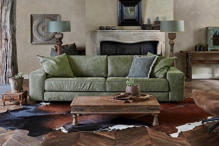 Stoere landelijke woonkamer met warme kleuren combinatie ...