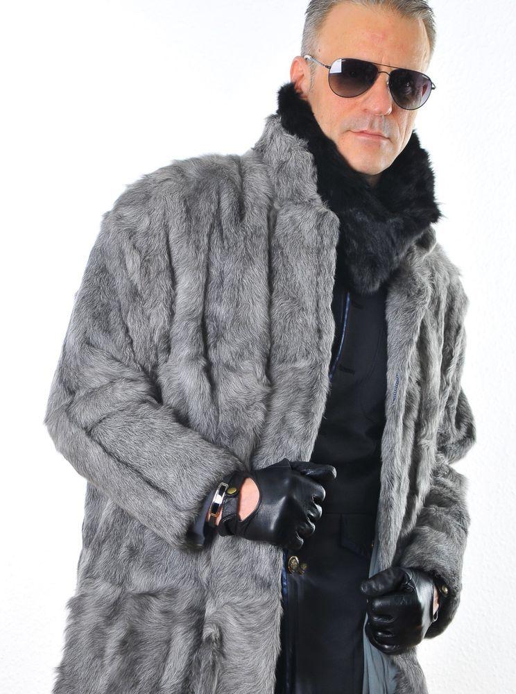 Fake fur mantel herren