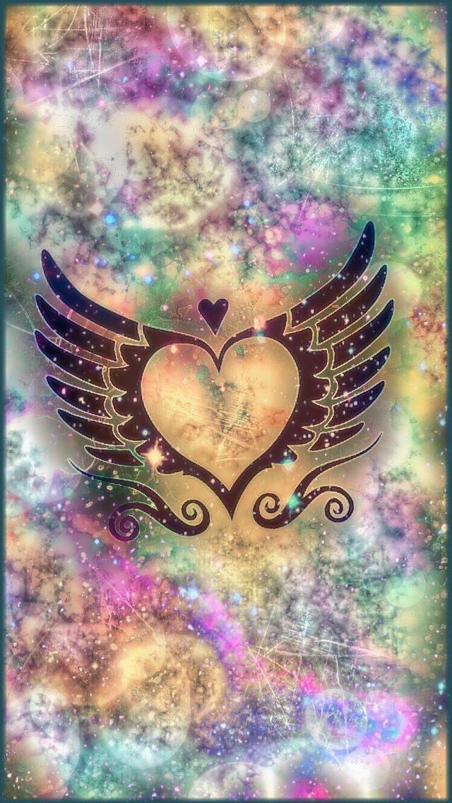 Galaxy heart | Wallpapers | Pinterest | Wallpaper, Phone ...