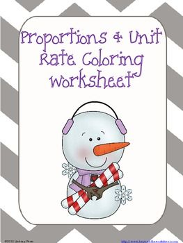 Proportions and Unit Rate Coloring Worksheet | Coloring worksheets ...