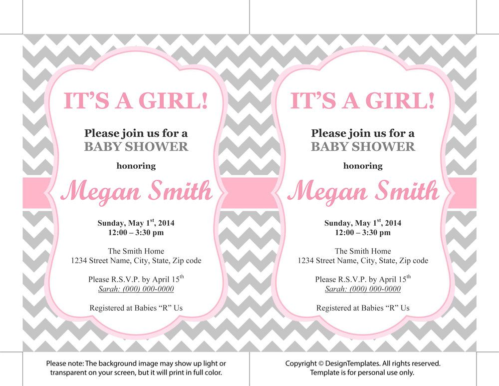 Baby Shower Invitations For Word Templates Custom Invitations Templates Printable Free  Kailan's Shower  Pinterest .