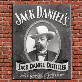 Jack Daniels, Distiller Vintage Tin Sign, from HomeWetBar.com