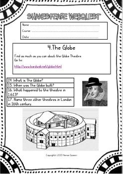 SHAKESPEARE WEBQUEST FOR ELEMENTARY LEVEL ...