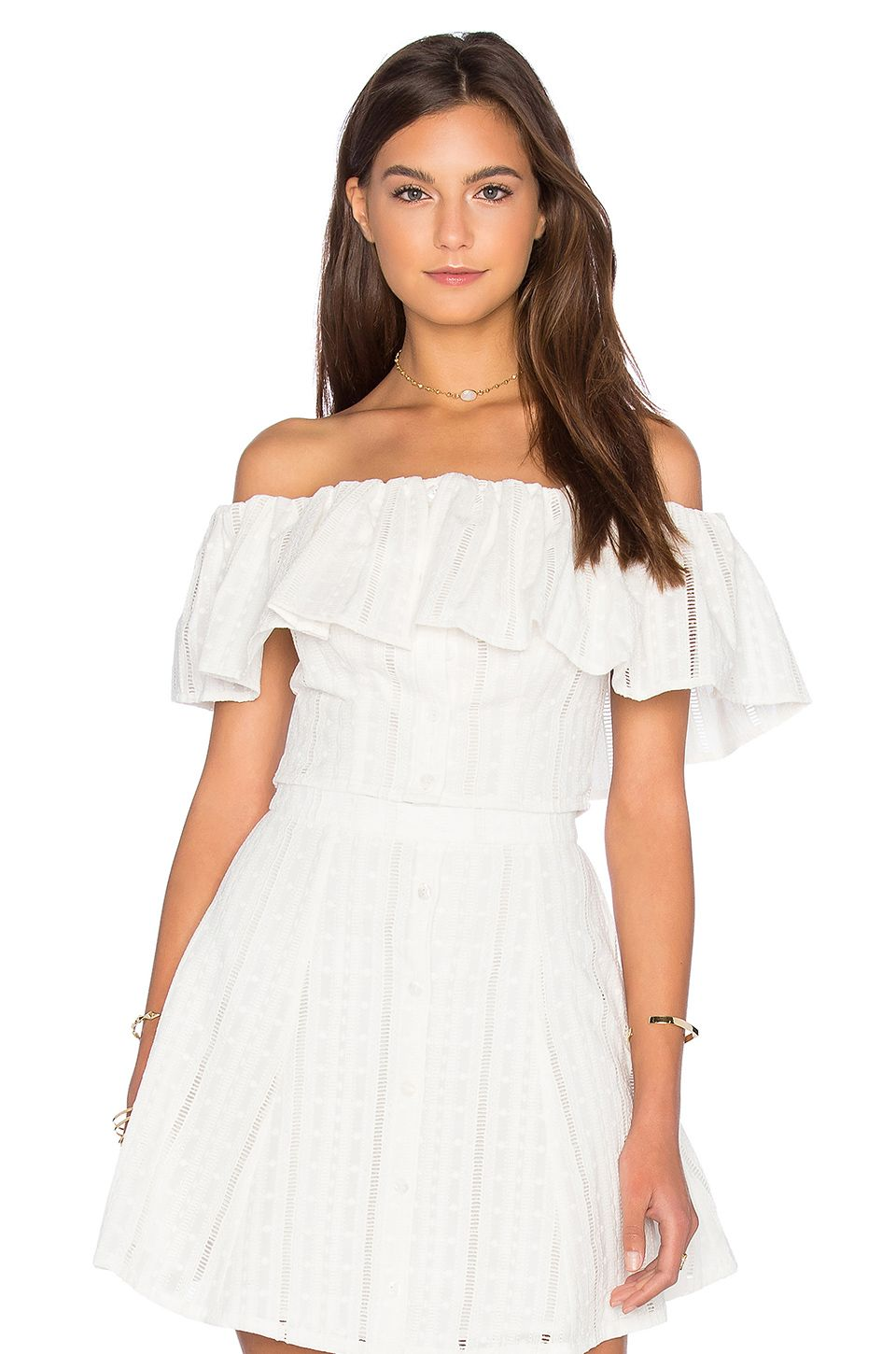 a776ce9c248 Capulet Spanish Shoulderless Top in White | REVOLVE | My Style in ...