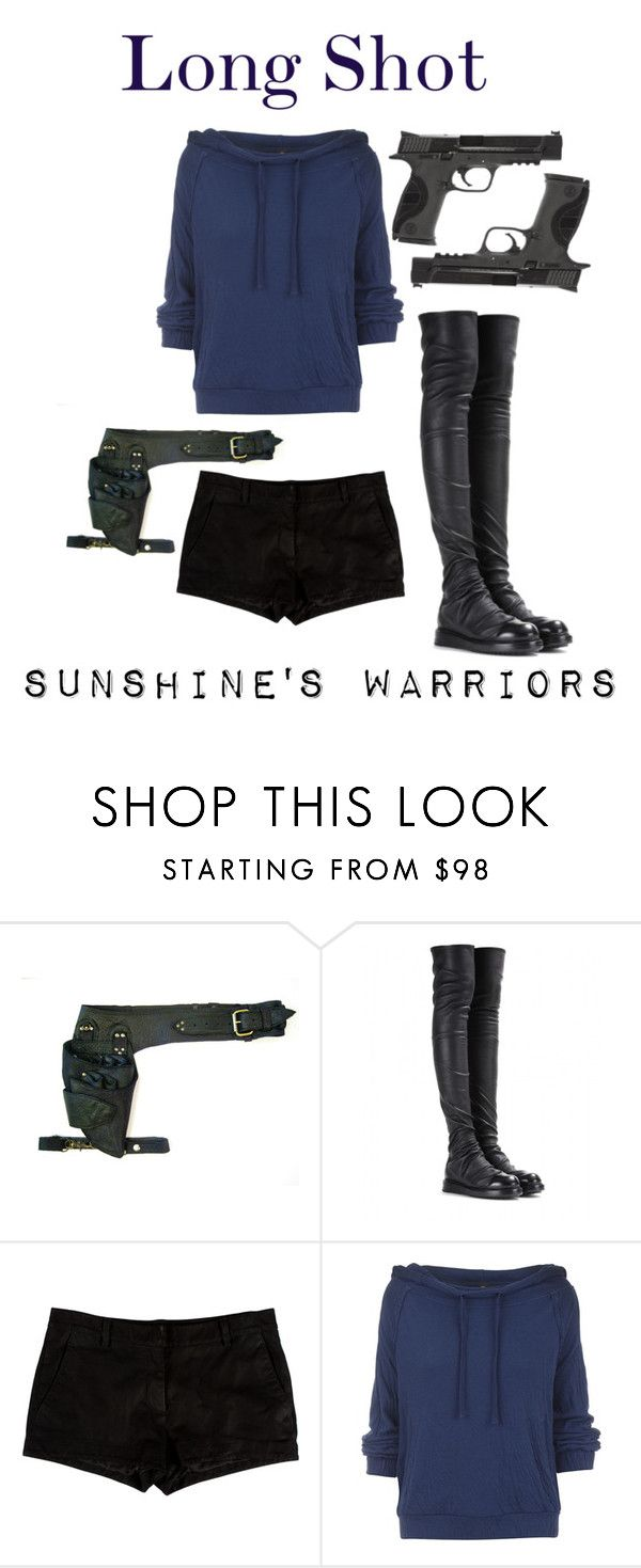 """""""Long Shot"""" by ofanotherworld ❤ liked on Polyvore featuring Rick Owens, L'Agence, Free People and Smith & Wesson"""