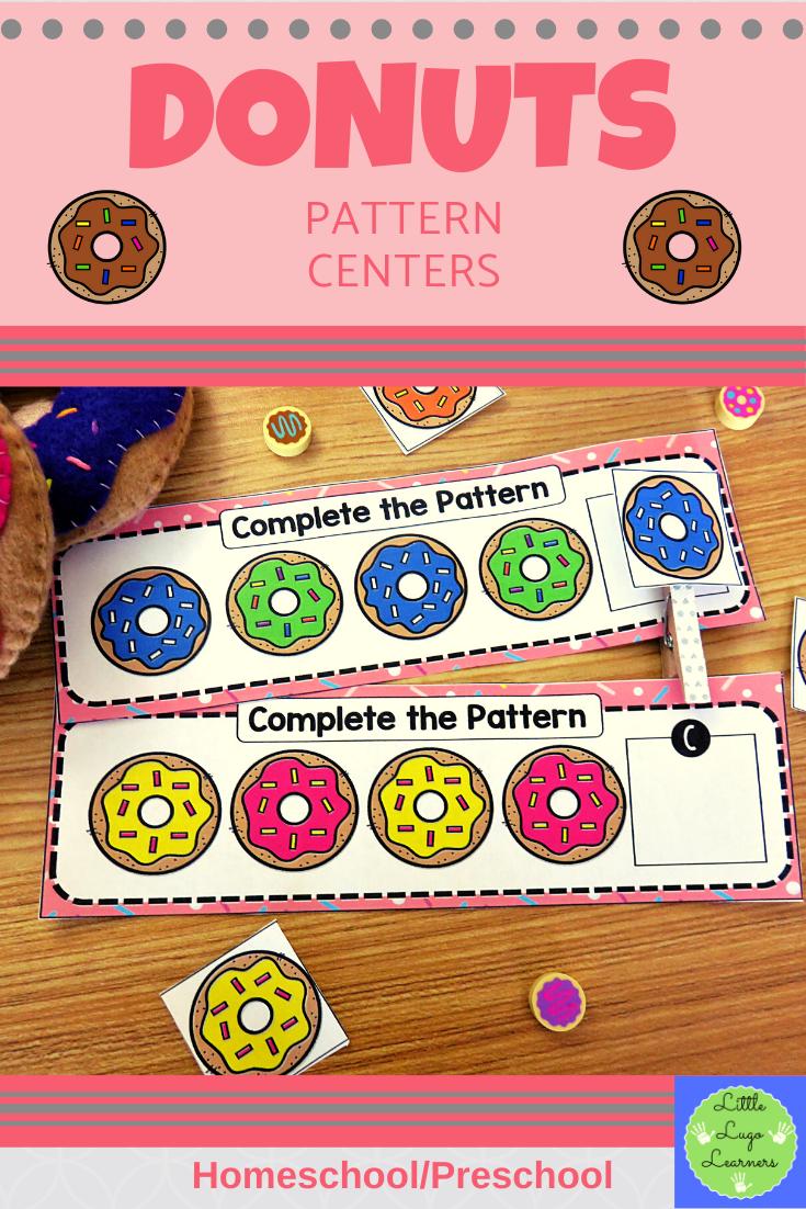 Donuts Pattern Centers In 2021 Preschool Pattern Activities Preschool Patterns Pattern Activities [ 1102 x 735 Pixel ]
