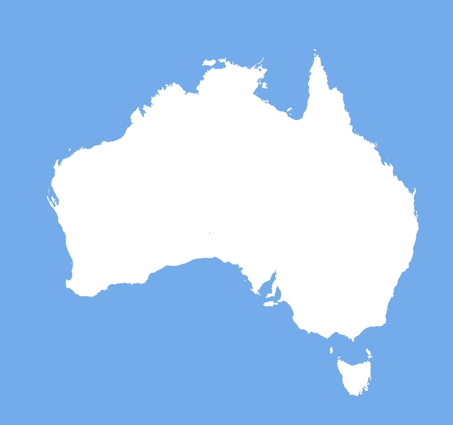 blank map australia